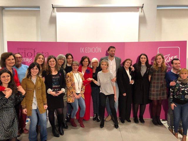 Entrega de los premios 'Violeta-Carme Chacón', organizados por las JSE