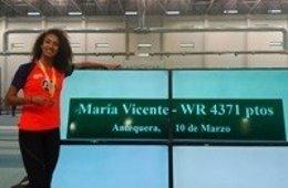María Vicente, récord del mundo Sub-18 de pentatlón