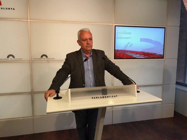 El portavoz del PP en el Parlament, Santi Rodríguez