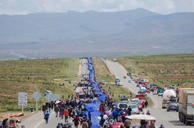 Bandera boliviana para reivindicar la salida al mar