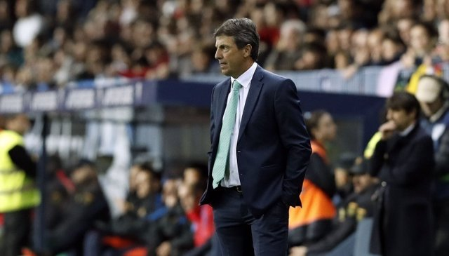 El entrenador del Málaga, José González