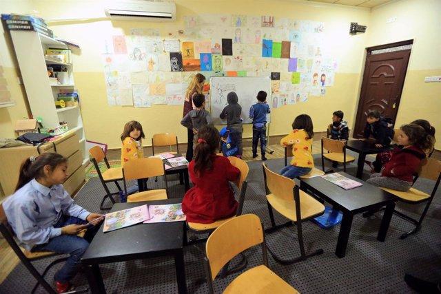 Orfanato para niños yazidíes