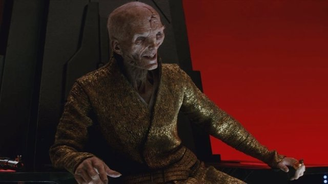 Snoke en Star Wars: Los últimios Jedi