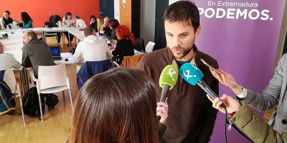 2. Podemos Extremadura se abre a IU, Equo y Extremeños para concurrir juntos en 2019