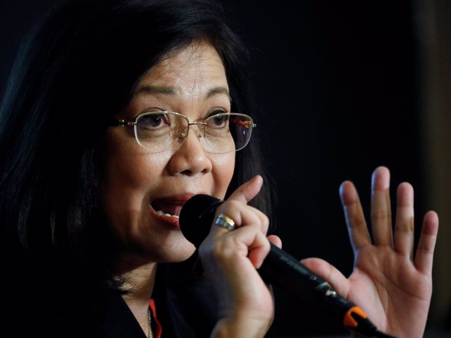 La presidenta del Tribunal Supremo de Filipinas, Maria Lourdes Sereno