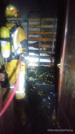 Incendio en una vivienda de Eusebio Estada