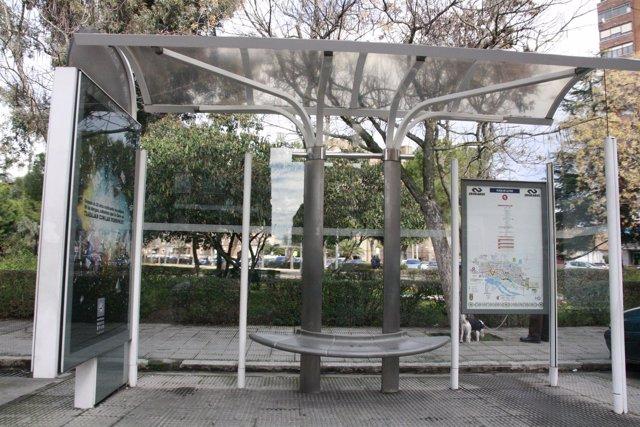Parada de autobus, bus