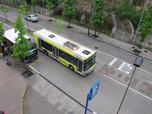 Autobús urbano en Santiago viajeros autobús