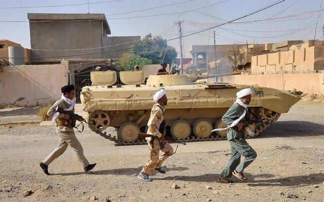 Mueren cuatro miembros de las Fuerzas de Movilización Popular en un ataque de Estado Islámico cerca de Mosul