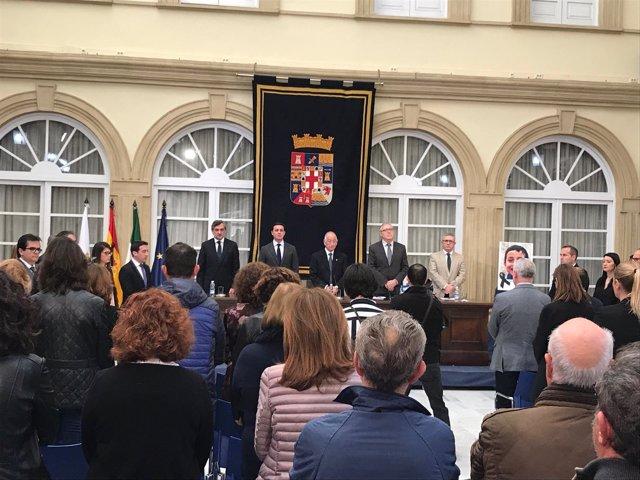 El Patio de Luces de Diputación ha acogido el pleno extraordinario por Gabriel.