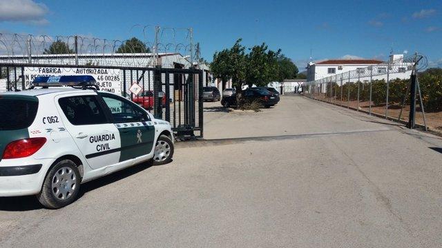 Pirotècnia Ricardo Caballer a Olocau (València), on ha mort un home