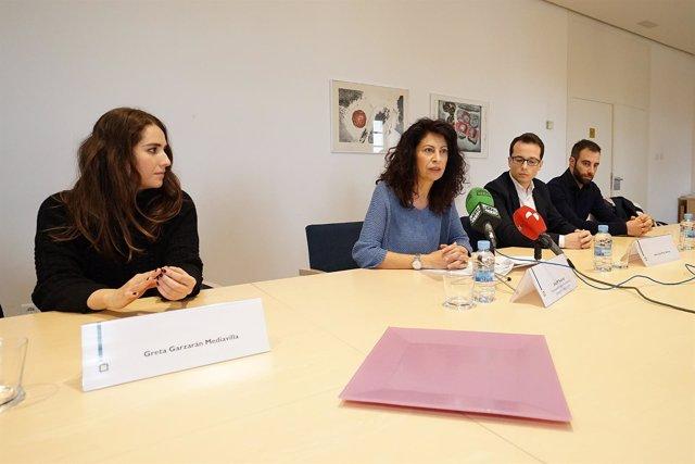 La concejal Ana Redondo presenta las becas Patio Herreriano