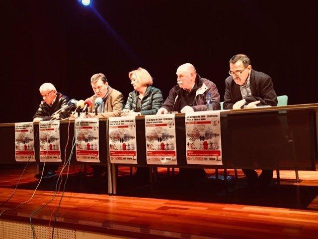 Bonifacio Arias, F. Asis, Dolores San Martin, Manuel Menéndez y Pepe Fuertes