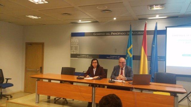 María Jesús Álvarez e Ibo Álvarez, en rueda de prensa