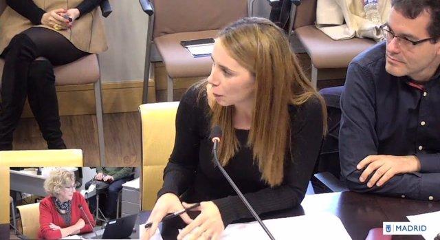 Mar Espinar en la Comisión de Cultura del Ayuntamiento de Madrid