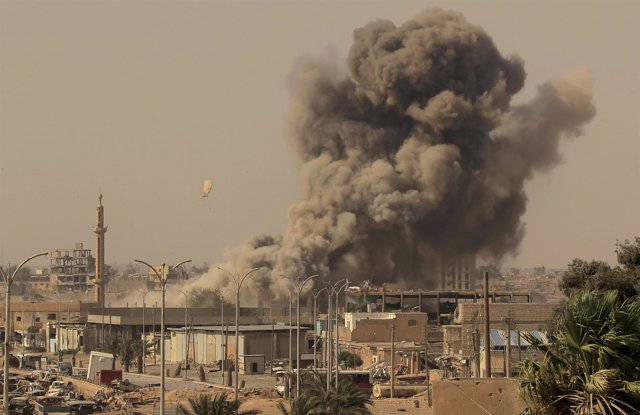 Enfrentamientos en Raqqa