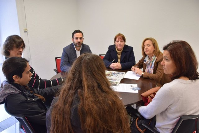 Daniel Pérez en una reunión sobre Zoosanitario