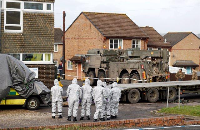 Militares en Salisbury