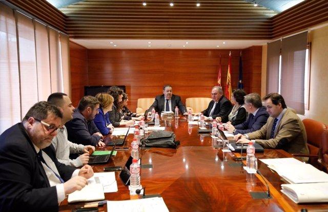 Reunión de la Mesa de las Cortes