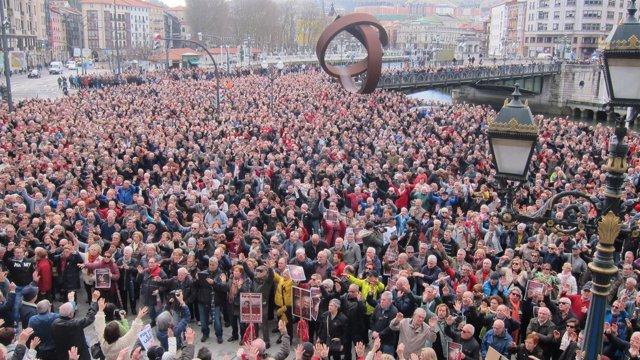 Concentración de pensionistas vizcaínos este lunes en Bilbao