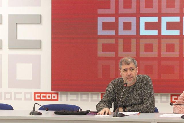El secretario general de CC.OO., Unai Sordo