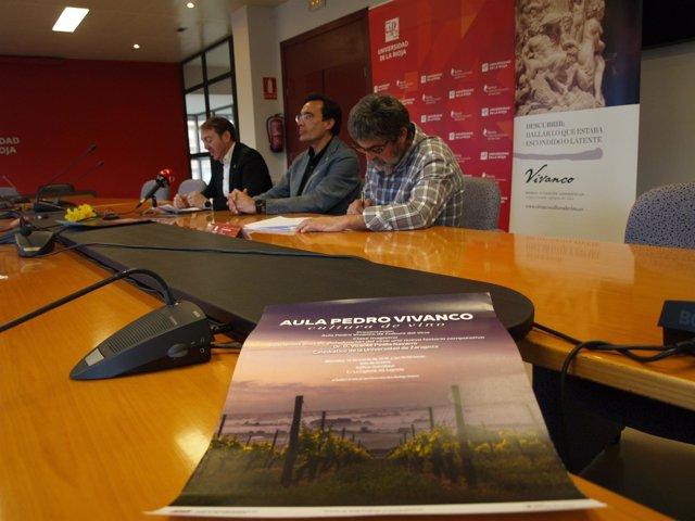 Presentación actividades Aula Pedro Vivanco en UR