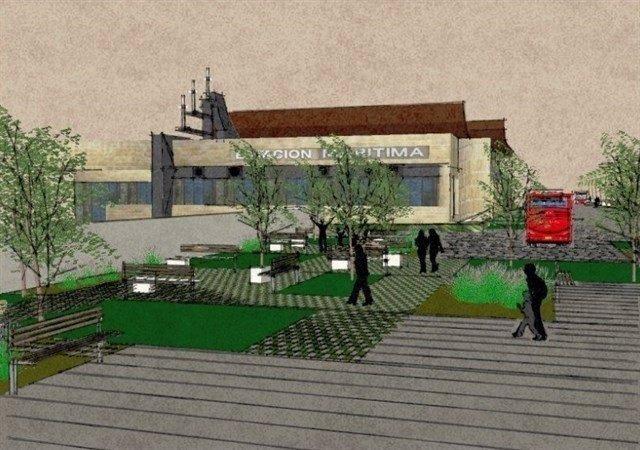 Infografía de la mejora del entorno de la estación marítima