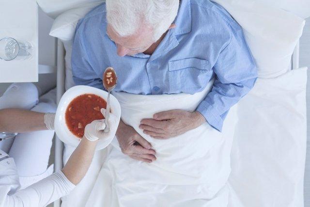 Comer, hospital, enfermos