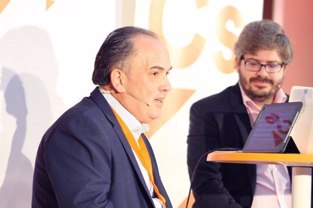 El secretario de Organización de Cs Andalucía, Manuel Buzón, en un acto