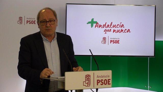 El secretario de Organización del PSOE-A, Juan Cornejo, este lunes