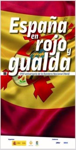Cartel de la exposición de banderas históricas de España