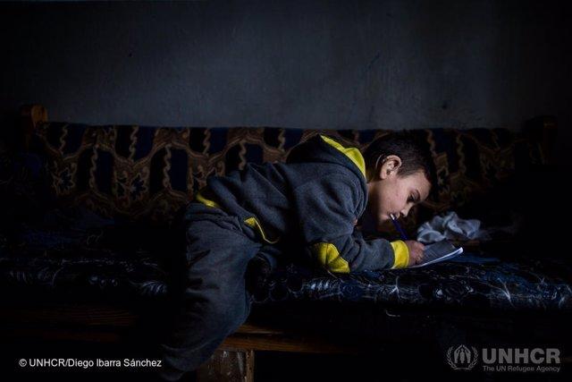 Mohamed, niño refugiado sirio