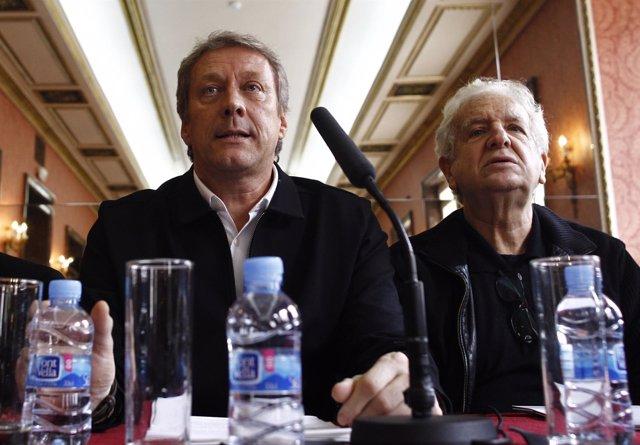 Daniel Bianco y José Carlos Plaza en la presentación de la ópera Juan José