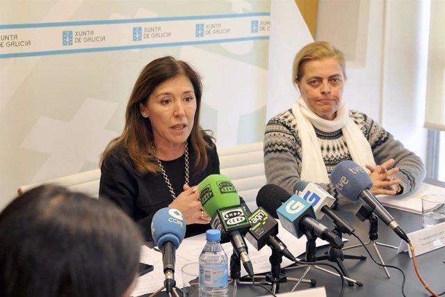 Rueda de prensa de la conselleira de Medio Ambiente en A Coruña.