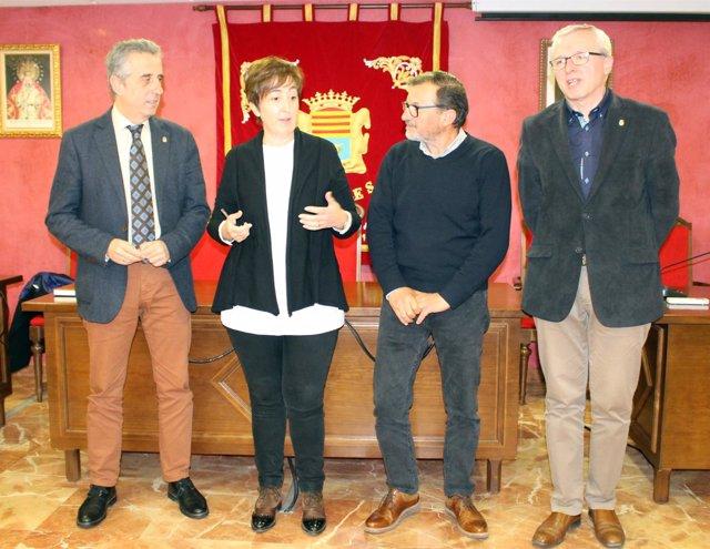 Carmona y Pérez (izda.), durante el encuentro mantenido