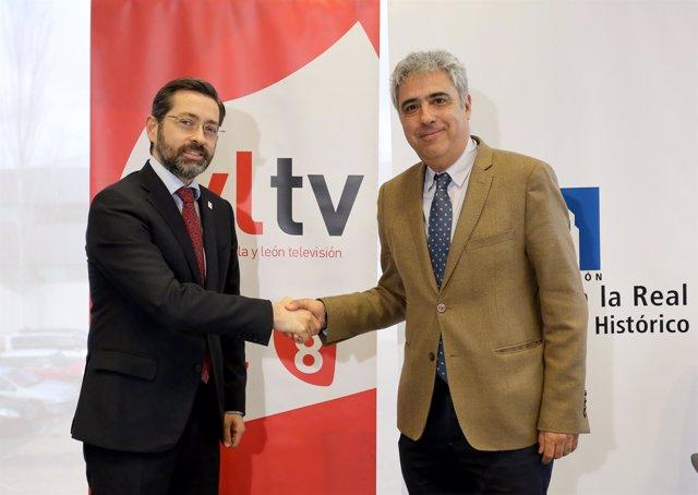 Eduardo Álvarez y Juan Carlos Prieto (dcha). 12-03-18.