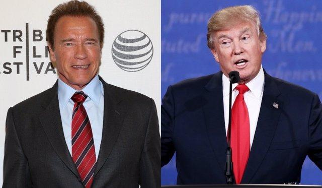 Arnold Schwarzenegger y Donald Trump