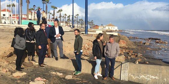 4. Cs pide al Gobierno conocer los plazos de los trabajos en las playas por el temporal