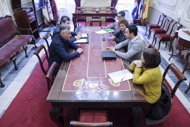 Reunión Junta y Ayuntamiento de Cádiz en materia de vivienda