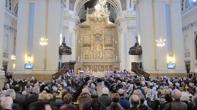 Funeral del arzobispo emérito de Zaragoza, monseñor Elías Yanes
