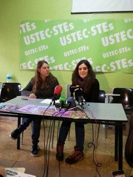T.Esteve (Ustec·Stes) en rueda de prensa