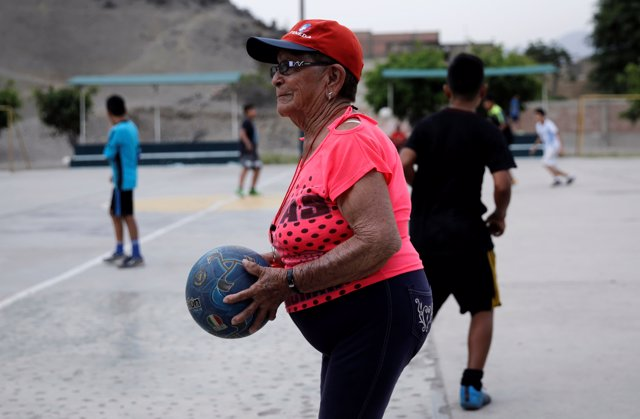 Maria Angelica Ramos, a 92 year-old soccer coach known as 'La Vieja' or 'the Old