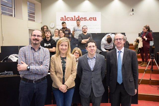 Neus Lloveras, Abel Escribà, Estanislau Alcover y Xavier Roca