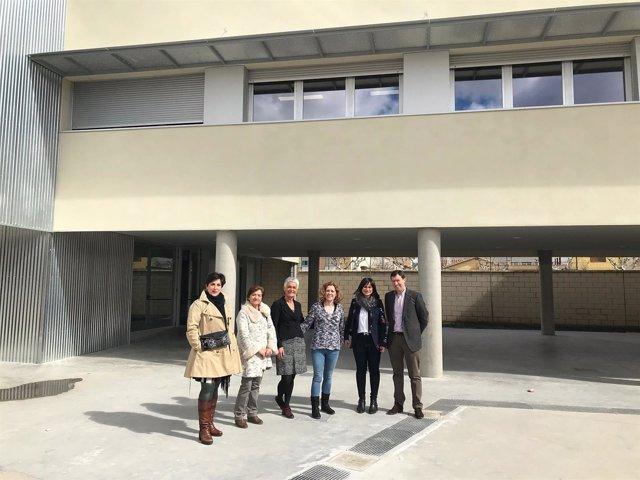 María Solana visita el instituto de Cintruénigo.