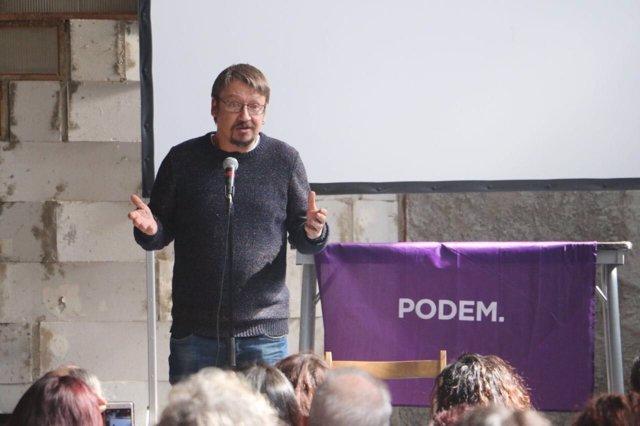El líder de los comuns y candidato a liderar Podem, Xavier Domènech.