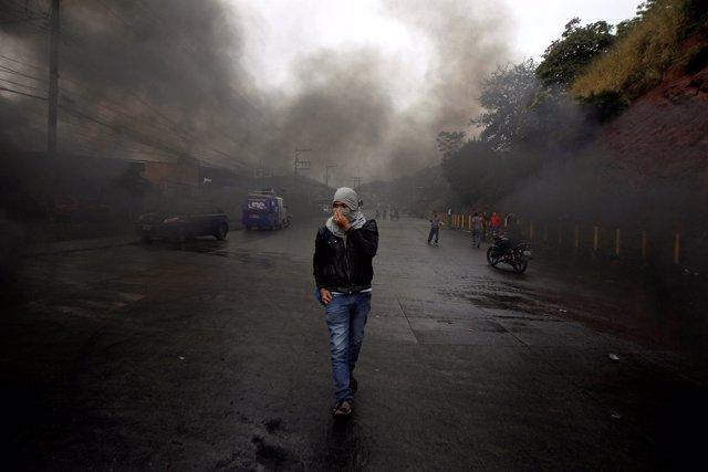 Protestas en Tegucigalpa