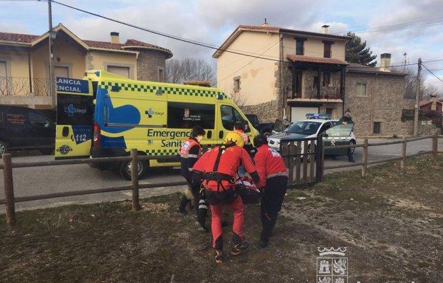 Rescate de dos personas accidentadas en Gredos. 12-3-2018