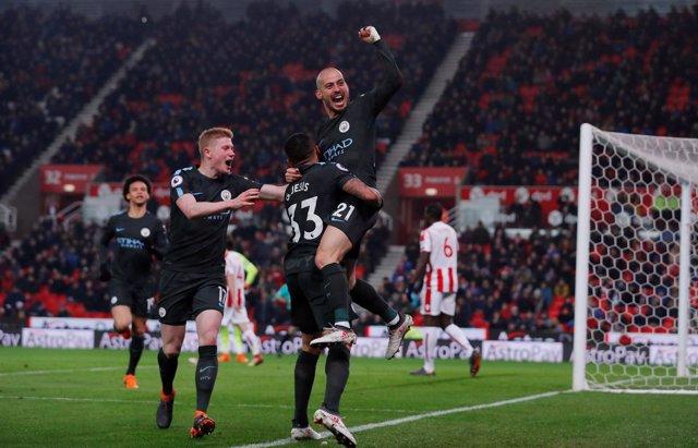 David Silva Stoke City Manchester City