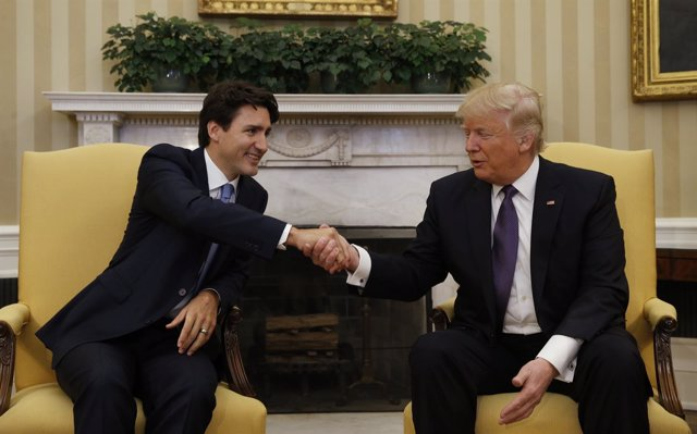 Junstin Trudeau y Donald Trump