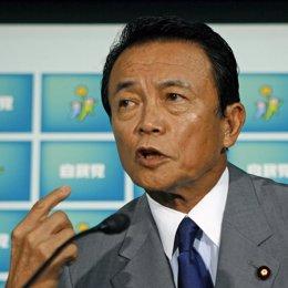 Taro Aso, uno de los candidatos a suceder a Fukuda